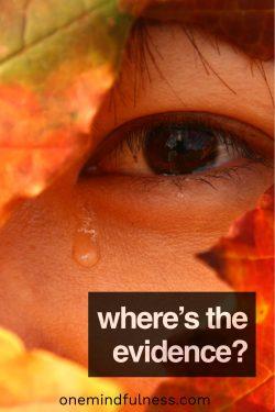Tears from Eye in leaves