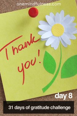 31 Days of Gratitude Challenge Day 8