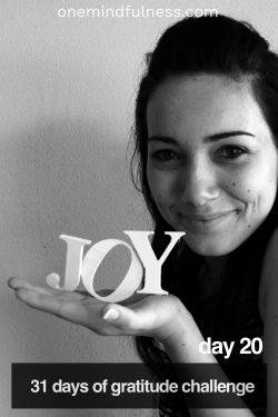31 Days of Gratitude Challenge Day 20