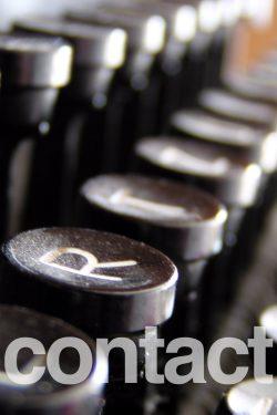 Closeup of Keyboard: Contact me