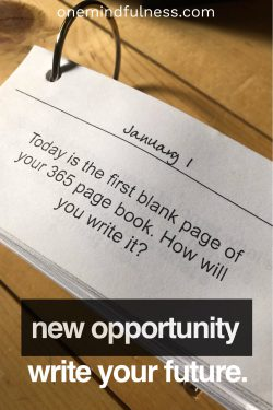 New Year: new opportunity. Write your future.