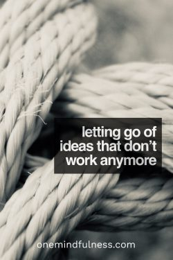 Letting go of ideas that don't work anymore