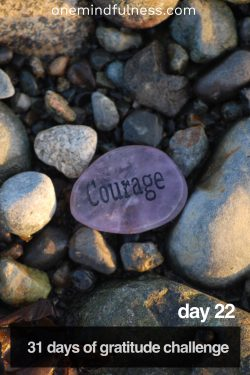 31 Days of Gratitude Challenge Day 22