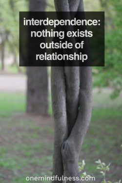 You may formally declare your independence through some outward show of defiance or self-reliance, but know this: nothing exists outside of relationship.