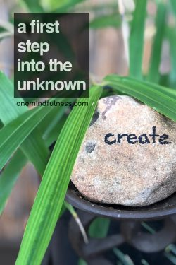 A first step into the unknown: Create. Sanctuary of stillness