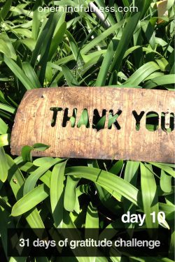 31 Days of Gratitude Challenge Day 10