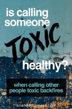 "Is Calling Someone Else ""Toxic"" Healthy?"