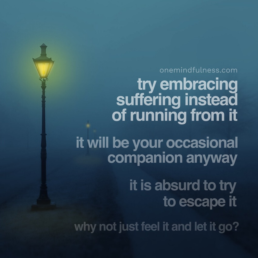 embrace suffering instead of running from it (Remindfulness Prompt)